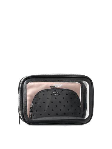 Trio-de-Cosmetiqueras-de-puntos-Victoria-s-Secret